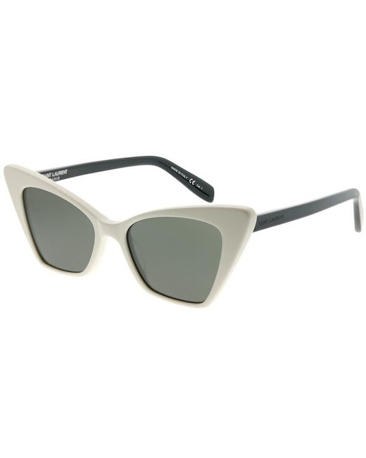 Saint Laurent - Multicolor Sl 244victoire 003 Ivory Cat-eye Sunglasses - Lyst