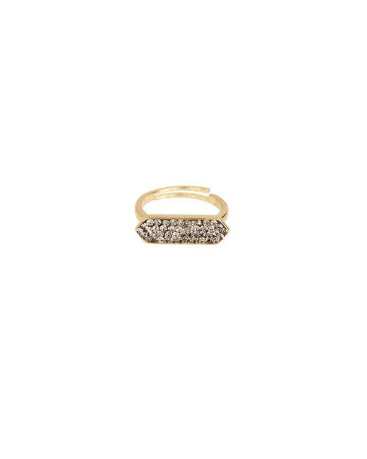 Saachi - Metallic Crystal Gold Plated Rings - Lyst