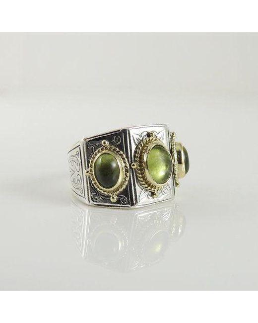 Konstantino - Metallic Sterling Silver 18k Peridot Ring - Lyst