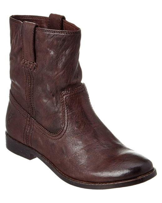 Frye - Brown Women's Anna Shortie Leather Bootie - Lyst