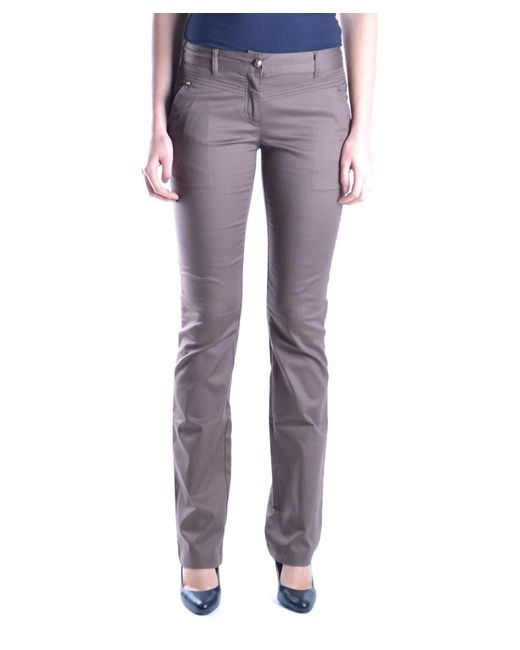 Class Roberto Cavalli - Women's Brown Cotton Pants - Lyst