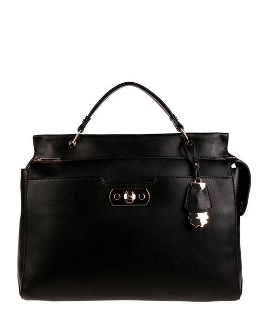 Liu Jo - Women's Black Faux Leather Handbag - Lyst