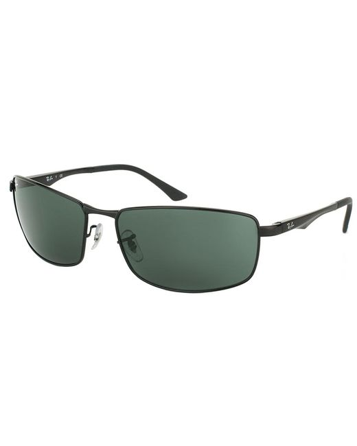 Ray-Ban - Black Rectangle Metal Sunglasses - Lyst