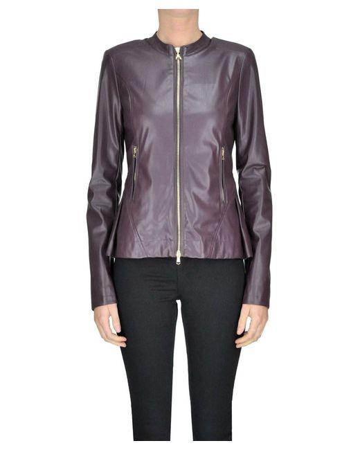 Patrizia Pepe - Red Women's Mcglcsg04042i Burgundy Polyurethane Outerwear Jacket - Lyst