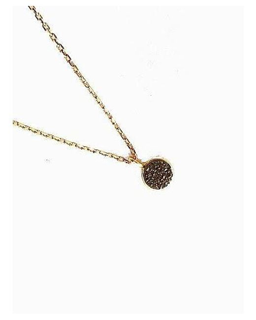 Blue Candy Jewelry | Brown Bronze Oval Druzy Necklace - Small | Lyst