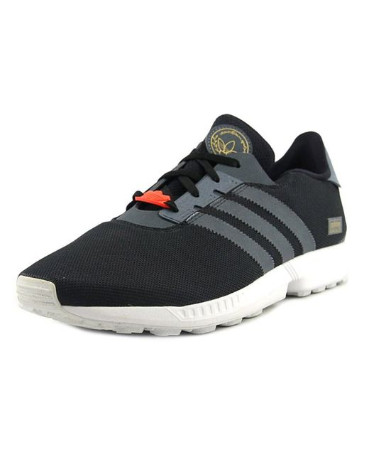 Adidas | Zx Gonz Men Round Toe Synthetic Black Sneakers for Men | Lyst ...