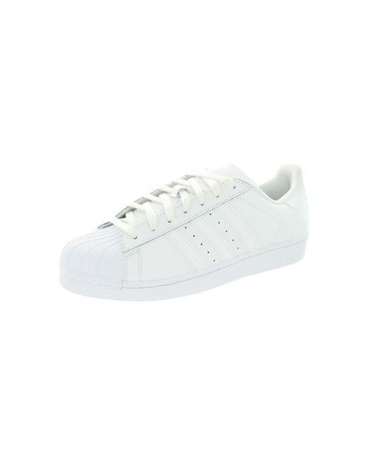 dd3a45c22aff6 White Men's Superstar Foundation Originals Basketball Shoe