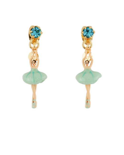 Les Nereides - Mini Pas De Deux With Blue Mini Ballerina And Crystal Earrings - Lyst