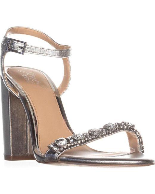 Badgley Mischka - Metallic Jewel By Hendricks Rhinestone Dress Sandals, Silver - Lyst