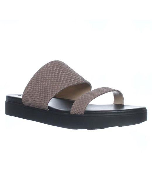 Via Spiga - White Carita Slide Flat Sandals, Dark Taupe - Lyst