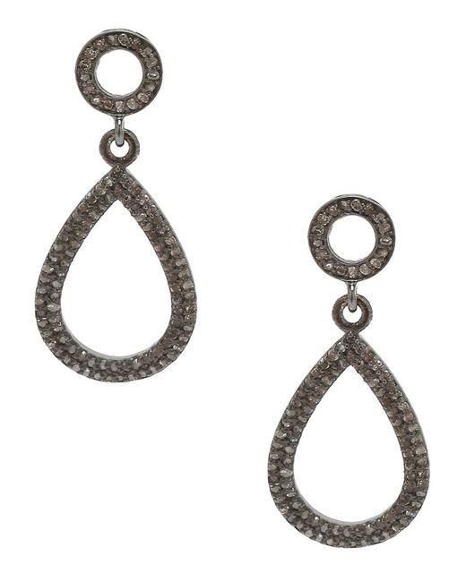 Adornia - Metallic Champagne Diamond And Sterling Silver Raina Earrings - Lyst
