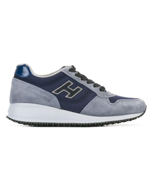 Hogan - Men's Blue Suede Sneakers for Men - Lyst
