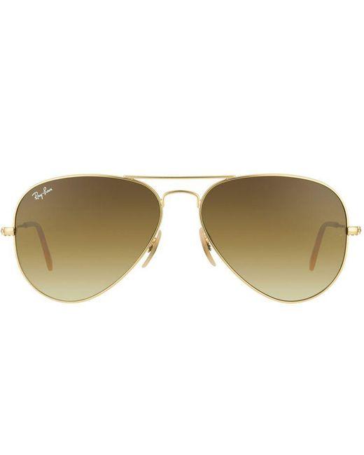 052f18d8c92890 ... Ray-Ban - Metallic Rb 3025 112 85 58mm Gold Aviator Sunglasses - Lyst  ...