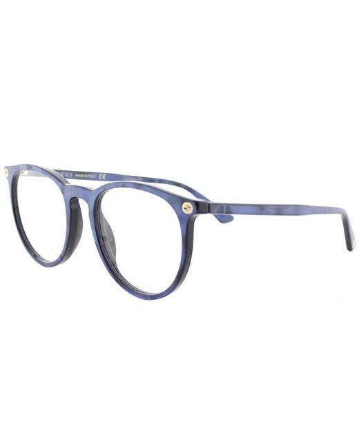 Gucci - Gg0027o 005 Blue Round Eyeglasses - Lyst