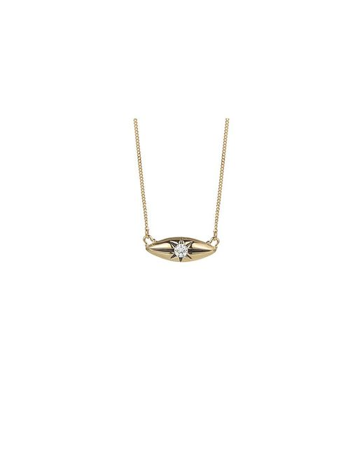 Jewelista | Diamond Marquise Station Necklace In 14k Yellow Gold (0.10cts, H-i I1) | Lyst
