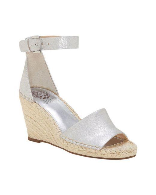 8f7570cf03f9 Lyst - Vince Camuto Women s Leera Wedge Sandal in Metallic
