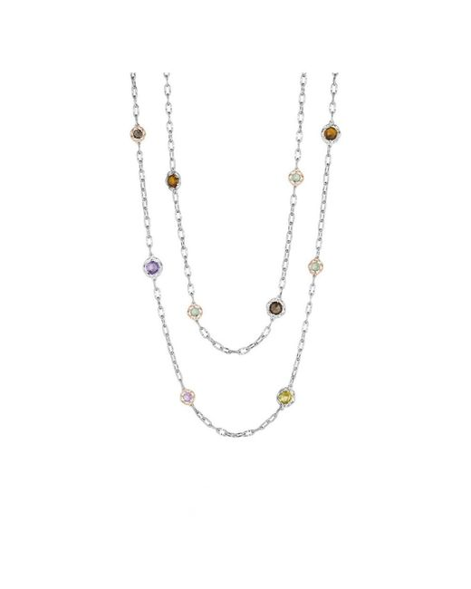 Tacori - Metallic Color Medley 18k & Silver 13.22 Ct. Tw. Gemstone 38in Necklace - Lyst