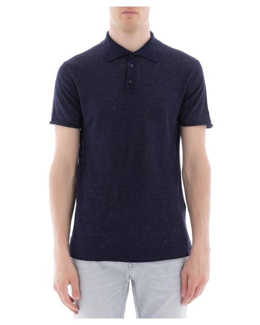 Paolo Pecora - Men's Blue Linen Polo Shirt for Men - Lyst