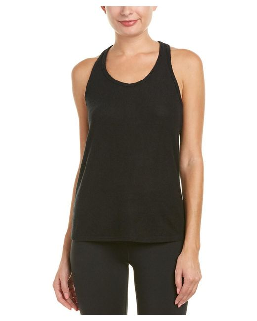 Splendid - Black Active Warm Up Tank - Lyst