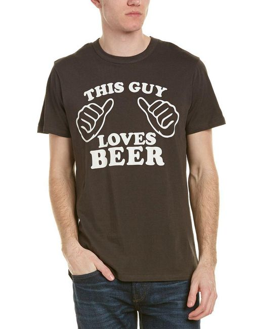 Chaser - Black This Guy Loves Beer T-shirt for Men - Lyst
