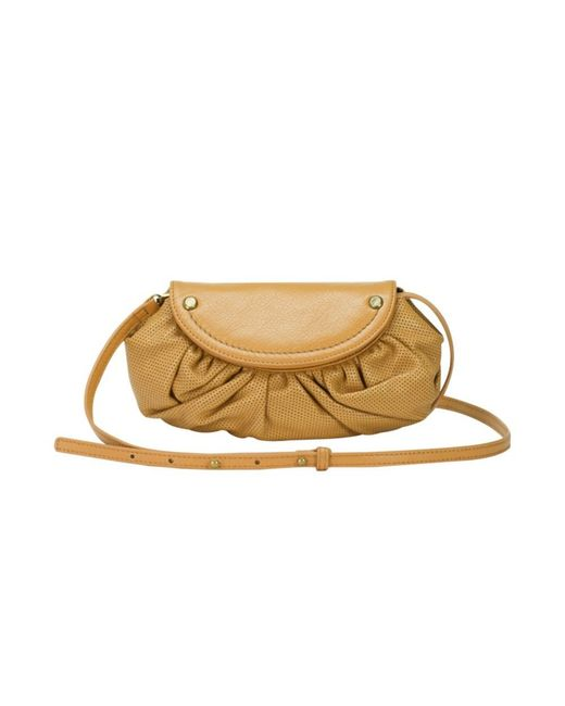 Mofe - Natural Bijou Convertible Crossbody-clutch In Perforated Leather With Rivet Studs And Adjustable Strap - Lyst