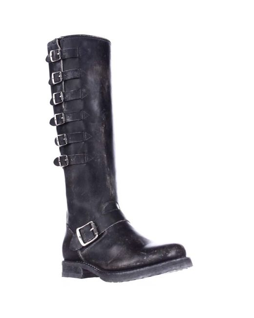 Frye | Veronica Belted Tall Multi Buckle Strap Boots - Black | Lyst