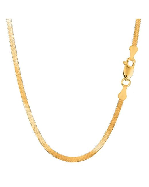 JewelryAffairs - 14k Yellow Gold Imperial Herringbone Chain Necklace, 3.0mm, 18 Inch - Lyst