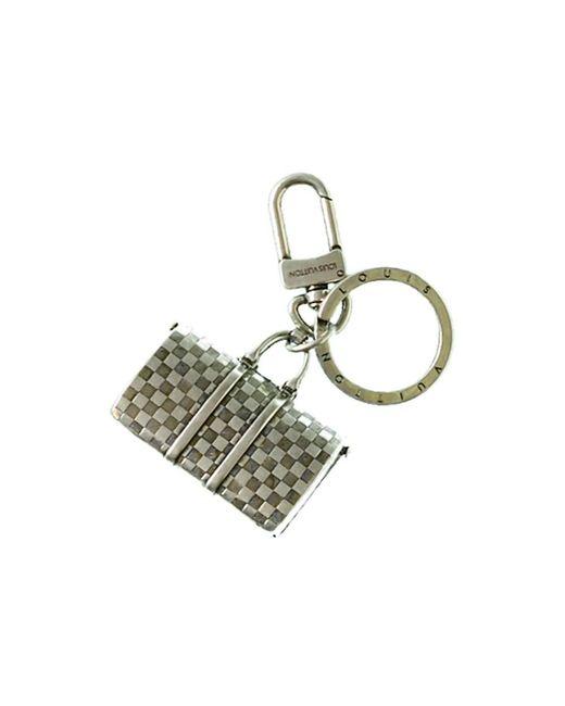 Louis Vuitton - Metallic Silver-tone Keepall Keyholder - Lyst