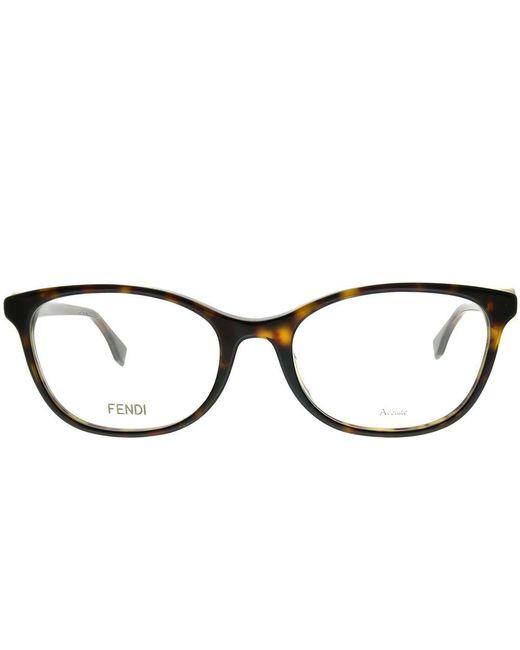 09952d3bfe ... Fendi - Brown F Is Asian Fit Ff 0337 f 086 53mm Dark Havana Rectangle  ...