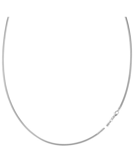 JewelryAffairs - Metallic Round Omega Chain Necklace With Screw Off Lock In 14k White Gold, 1.5mm - Lyst