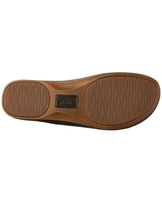 3624156ea45 ... Clarks - Black Sarla Forte Womens Flat Slingback Sandals - Lyst ...