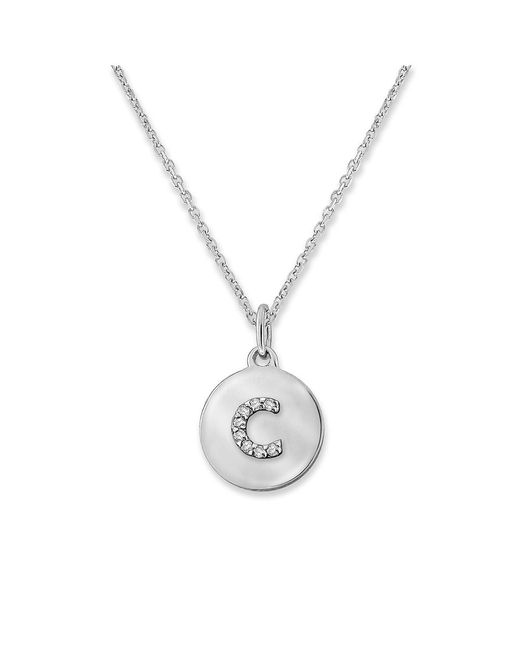 KC Designs - White 14k Gold And Diamond Lowercase Initial Necklace, C - Lyst