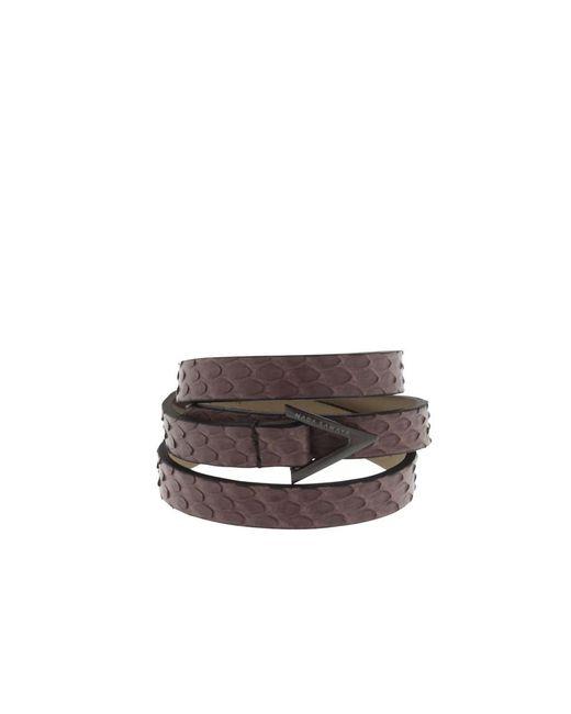 Nada Sawaya - Brown Wrap Me - 3 Rows Python Wrap Bracelet - Lyst