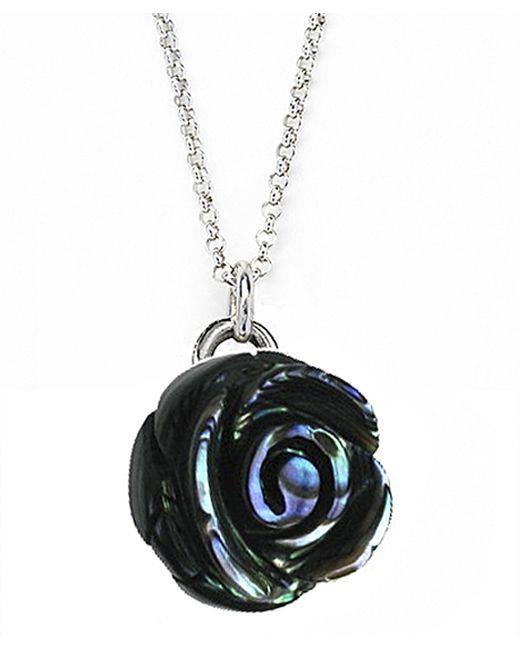 Jan Leslie   Metallic Large Gemstone Rose Pendant / Charm Necklace   Lyst