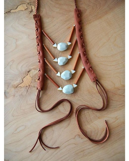 Love Leather | Multicolor Cheyenne Moon Necklace | Lyst