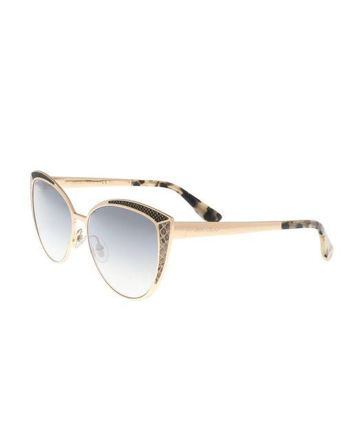 Jimmy Choo - Metallic Domi/s 0psw Gold Copper Cateye Sunglasses - Lyst