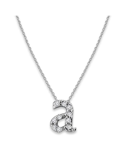 KC Designs   White 14k Gold And Diamond Lowercase Initial Necklace, A   Lyst
