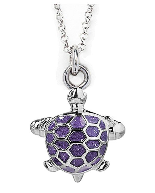 Jan Leslie | Purple Enamel Turtle Pendant / Charm Necklace | Lyst