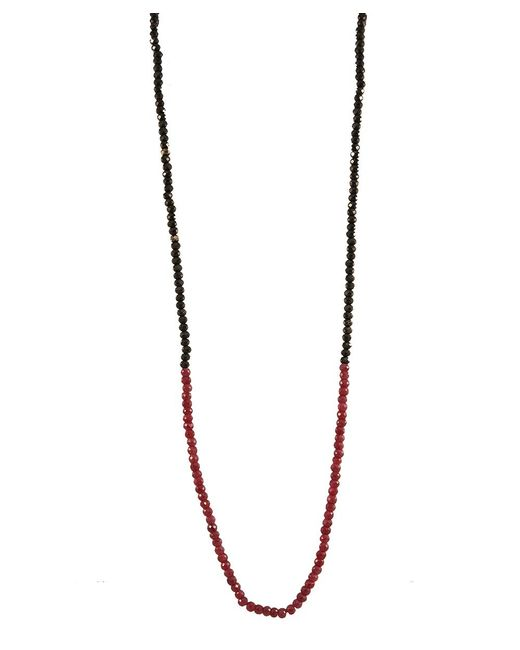 Adornia   Red Black Spinel And Ruby Belle Necklace   Lyst