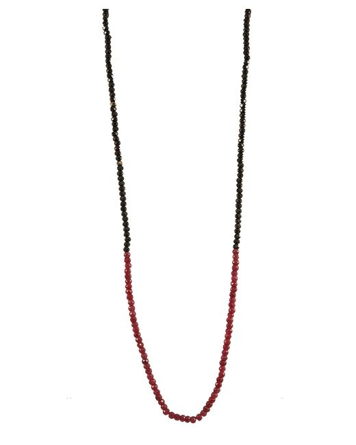 Adornia | Red Black Spinel And Ruby Belle Necklace | Lyst