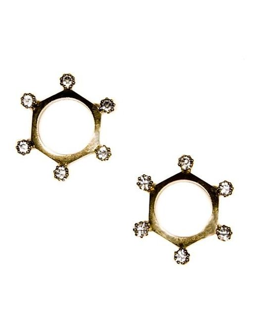 Nicole Romano | Metallic Citadel Earrings | Lyst
