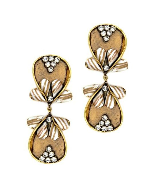 Nicole Romano   Metallic Dewei Earrings   Lyst