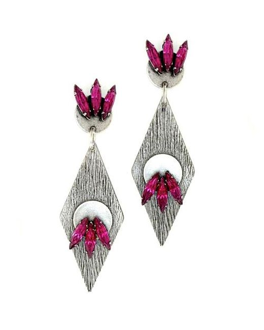Nicole Romano | Purple Deshi Earrings | Lyst