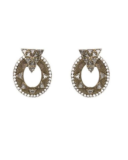 Nicole Romano | Metallic Caboto Earrings | Lyst