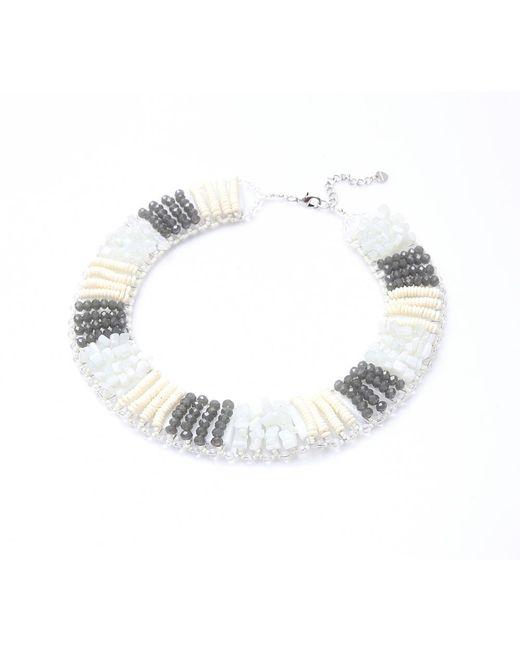 Nakamol   Multicolor Ravel Necklace-white Mix   Lyst