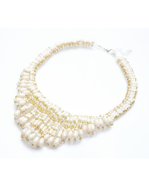 Nakamol | Multicolor Bontãƒâ© Necklace-cream Mix | Lyst