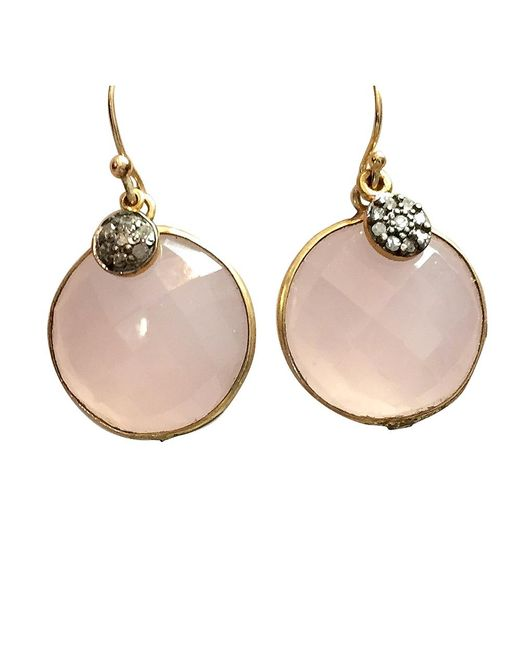 Blue Candy Jewelry | Metallic Lollipop Gemstone Earrings With Pave Diamond | Lyst