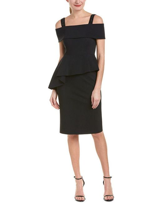 Teri Jon - Black By Rickie Freeman Sheath Dress - Lyst