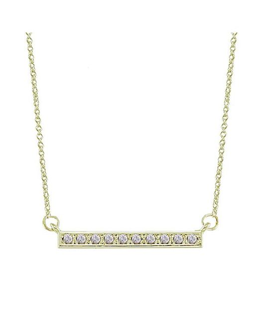 Adornia | Purple Diamond And Yellow Gold Vermeil Barra Bar Necklace | Lyst