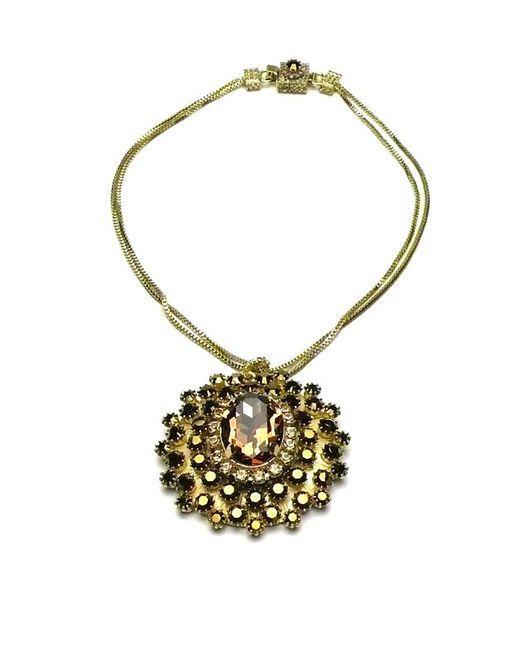 Otazu   Metallic Swarovski Crystal Goldtone Pendant   Lyst